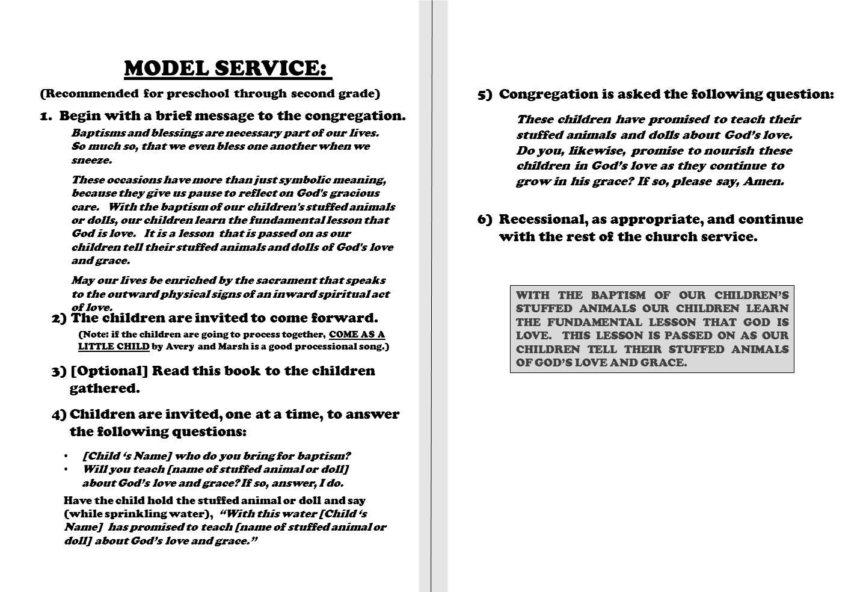 Model Church Service